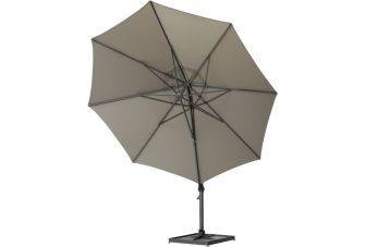 4SO Siesta round parasol Ø 350 cm taupe