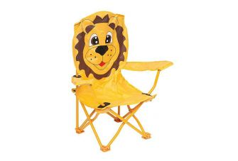 Bo-Camp Kinderstoel Opvouwbaar Safety-lock Leeuw model