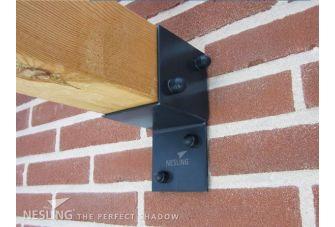 Nesling Douglas Pergola Wall 2 Voor Harmonicadoek Antraciet 3,7x3,7m