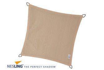 Nesling Schaduwdoek Coolfit Gebroken Wit vierkant 3,6m