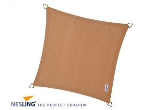 Nesling Schaduwdoek Coolfit Zand vierkant 5m