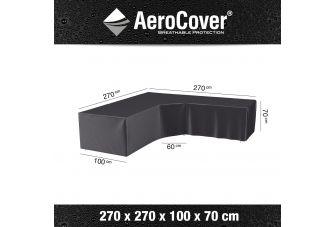 Aerocover Loungesets L-vorm - lage rug - trapeze hoek