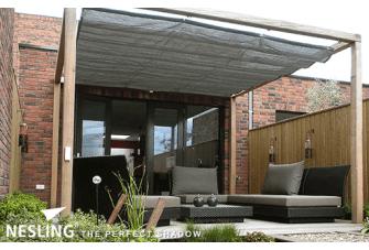 Nesling Douglas Pergola Wall 1 Voor Harmonicadoek Antraciet 2x5m