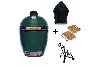 Big Green Egg XLarge incl. Nest & Acacia Egg Mates & Cover