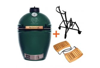 Big Green Egg Large incl. IntEGGrated Nest + Handler & Acacia Egg Mates