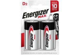 Energizer Max D BL2 Batterijen